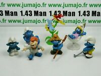 LOT6 Figurine PVC schleich : 6 SCHTROUMPF smurf puffi pituffo