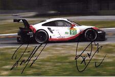 Makowiecki-Lietz signé 9x6 PORSCHE 911 RSR Monza test 2017