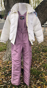 BEAUTIFUL 1st Down Jacket & bib Set Women Sze 10 Snow Outfit *PLEASE READ*