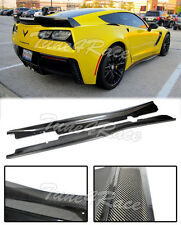 For 14-Up Corvette C7 Z06 Only Carbon Fiber Side Skirts Z06 Z07 Package Style