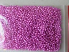 3mm Opaque glass seed beads - Fuchsia - aprox 1,400 pcs (50g) FREE POSTAGE