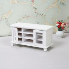 Dollhouse Miniature 1:12 Living Room Handmade TV Cabinet Wood Cabinet Toy White