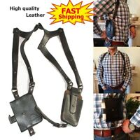 LEATHER ANTI-THEFT HIDDEN UNDERARM HOLSTER SHOULDER WALLET PHONE PASSPORT BAGS