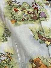 Winnie the Pooh Unlined, Machine Washable Curtains.Disney.Used.