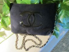 Chanel Velour Makeup Bag w/ Chain Strap