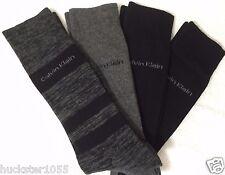 Calvin Klein 4-Pair Combed Cotton Casual/Dress Socks Gray /  Black   (4374)