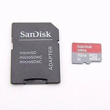 SANDISK 32GB CLASS10 HIGH-SPEED 80MB/S MICRO SDHC SD MEMORY CARD A1197