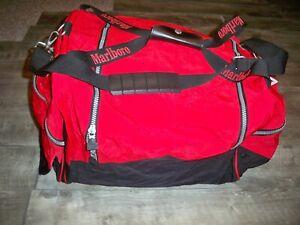 Vtg Marlboro Adventure Team Advertising Travel Luggage Duffel Bag Duffle Pack