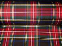 FREE SHIPPING BY 2 YARDS~ Black Stewart Tartan~ Fabric Upholstery