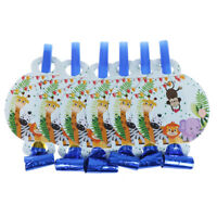 6pcs/lot Safari animals Blowouts Party Horn Trumpet Noise Makers Kids Toys
