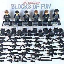 SWAT Pupazzetto TEAM Riot Shields 30 + PISTOLE POLIZIA SPECIAL OPS forze Personalizzato Lego