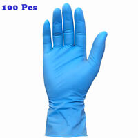 100x Disposable Nitrile Gloves Powder Free Home Cleaning Medical Garden Gloves