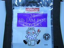 JAM POT COVERS ( 2lb)  packet of 20  Jam making  ( Caroline)