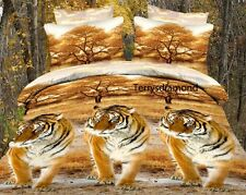 Luxurious King 3D Printed Quilt Duvet Doona Cover Tigers NEW