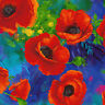 Red Poppy Paperver Chong-A Hwang Timeless Treasures Cotton Quilt Fabric