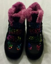 Skechers Girls Shoes Sz 3 Black Multi Kids Wedge Fashion