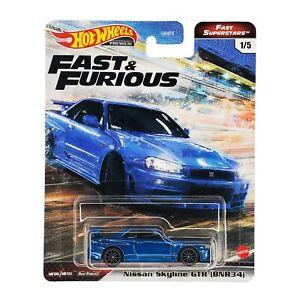 HOT WHEELS Nissan Skyline GT-R [BNR34] Fast & Furious Superstars GRL84 2021