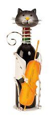Moderno Vino Soporte de botellas GATO DE COLORES CON CONTRABAJO altura 36,5cm