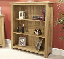 Eton solid oak modern furniture small living room office bookcase