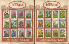 CIOCCOLATO _ NESTLE - CHOCOLATS AU LAIT _ FIGURINE _ serie XIII e XIV - FLEURS