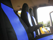 blau 2+1 Stoff Sitzbezüge passgenau für Ford Transit Van 2001-2013 MK6 MK7