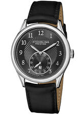 Stuhrling Prestige Levant Men's Swiss Made Automatic Dress Watch Black Dial NEW