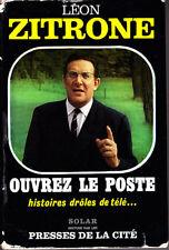 C1 Leon ZITRONE Ouvrez le Poste HISTOIRES DROLES DE TELE 1965 Jaquette