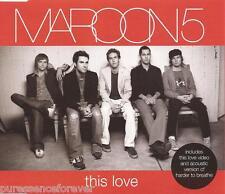 MAROON 5 - This Love (UK 4 Track Enhanced CD Single)