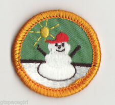 Retired Girl Scouts Junior Badge Patch 1980 WTE~Yellow~Frosty Fun