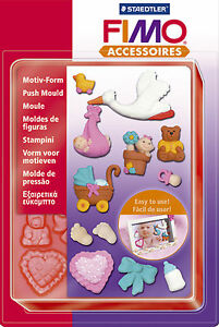 FIMO Sculpey Clay Push Moulds Baby For Modelling Jewellery Craft Art Fun 05