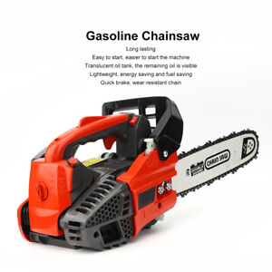 Easy Start Chain Saw Single-Handed 25CC Gasoline Logging Saw Small Chainsaw HOT!