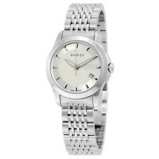 3bcab9417 Gucci G-Timeless Silver Dial Stainless Steel YA126501 27mm Ladies Watch