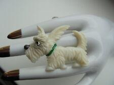 60 iger Jahre Terrier Brosche Hartplastik handcoloriert  Vintage Sammler ~* K*