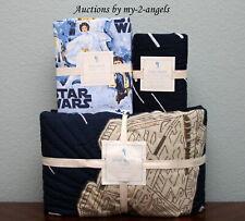Pottery Barn Kids Star Wars Millennium Falcon Twin Quilt+Std Sham+Sheet Set Nla