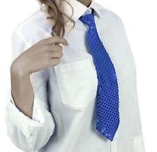 Krawatte Pailletten Glitzer Krawatte Party Fasching Pailletten Krawatte BLAU