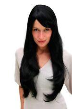 Perruque pour Femme Femmes Noir Très Long Frange Raie Lisse 70cm 3111-1B