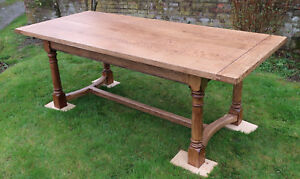 Refectory dining/kitchen Table Handmade in Montgomeryshire 7 foot by 3,for8/10