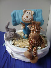 NEW Baby Boy deep fill luxury Noah's Ark Nappy Cake #Christmas #Baby Shower