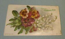1908 Mullanphy Florist St. Louis Missouri Advertising Postcard Embossed Flowers