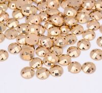 50 x Grade A Gold Sew on Round Diamante Crystal Gems Rhinestone 10 mm UK SELL #3