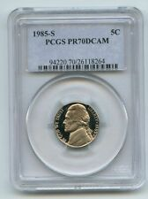 1985 S 5C Jefferson Nickel Proof PCGS PR70DCAM