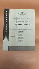 Instruction Manual for Jakar Mannheim Type Slide Rule