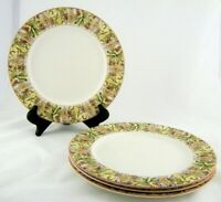 Royal Doulton Cinnabar Dinner Plates Set of 4 Everyday China Mosaic Design 11""