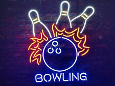 New Bowling Game Beer Bar Gift Pub Neon Light Sign 20''x16""