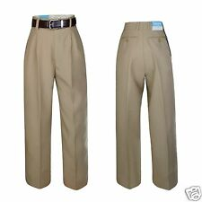 Boy Toddler Kid Teen Formal Party Church School Uniform Pants Khaki Taupe 2T-20