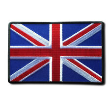 "Embroidered Large 5"" British UK Flag Union Jack Iron on Patch Biker Patch"
