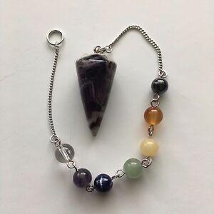 Chakra Pendulum - Bracelet - Doubles as a Pendulum or Chakra Bracelet