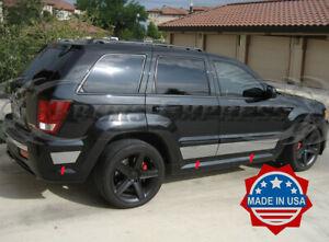 "fit:2005-2010 Jeep Grand Cherokee Laredo Rocker Panel Trim Side Molding 6Pc 7"""