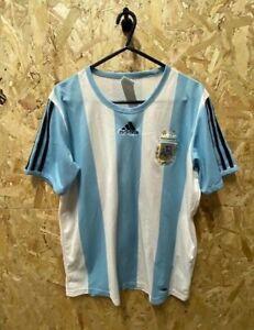 2007/09 adidas Argentina Home Shirt Blue and White Size Medium Mens