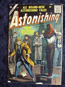 ASTONISHING #61 1957 ATLAS SILVER AGE HORROR COMIC
